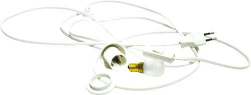 Unbekannt Kabel mit Fassung, Schalter und Glühbirne 15 Watt für Holz Bastelsets z.B. Laubsägearbeiten Laternen, Fensterbilder, u.v.m.