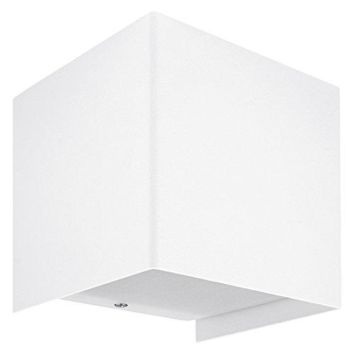 SSC-LUXon® LED Wandleuchte dimmbar CUBE Weiß lackiert inkl. LED Leuchtmittel warmweiß OSRAM G9 3,5W - Up & Down Lichteffekt -