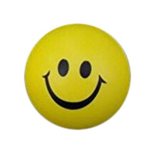 TOOGOO(R) 6,3 cm Ball sourire visage main poignet exercice Stress Relief ballon jouet
