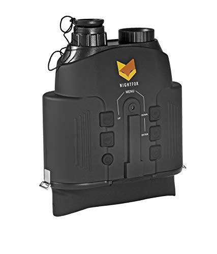 Nightfox - Jumelles à vision nocturne 110R - écran large/infrarouge/numérique - portée 150 m - fonction enregistrement