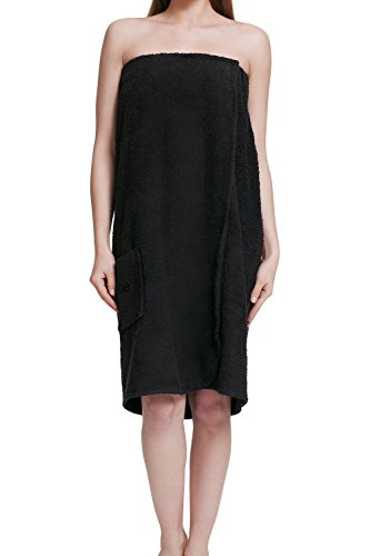 Damen Saunakilt Black-L / XL