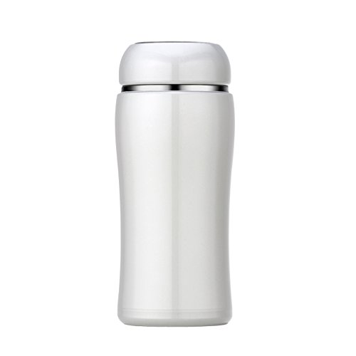 Mug de mode créative dames tasse d'eau fraîche et simple tasse d'art portable mignon tasse à vide en acier inoxydable ( Color : Blanc , Size : 350ml )