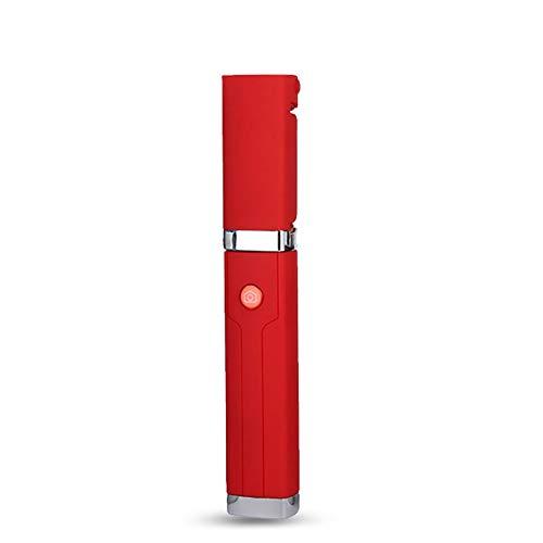 Beito Mini-Selfie-Stick-Handy Bluetooth-Selfie klebt alle in Einem Draht Selfie-Stick für iPhone X/8/8PLUS/7/7plus/6/6PLUS/6S/6S Plus/5S, Galaxy S5/S6/S7/S8, Google, Huawei (Red)