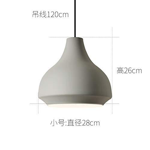 Cafe estudio barra lámpara dormitorio araña pequeño gris diámetro 28 cm con luz de dos colores led bombilla de 7 vatios