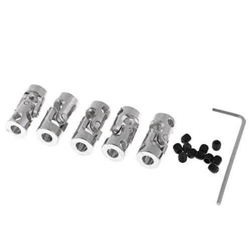 FLAMEER Universal Kardangelenk Kupplung Welle Motorwellen mit Wrench Set zum Motor Basteln - 4x5mm - 5-mm-welle