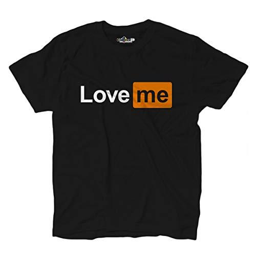 KiarenzaFD - Camiseta de Porno de escondite Love Me, KTS02615-M-black, Negro, M