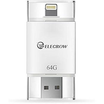 USB Stick Flash Drive für iPhone iPad IOS, Externe Speicher Speicher Erweiterung Usb Stick Pen Drive (64GB) (Weiß) von Elecrow