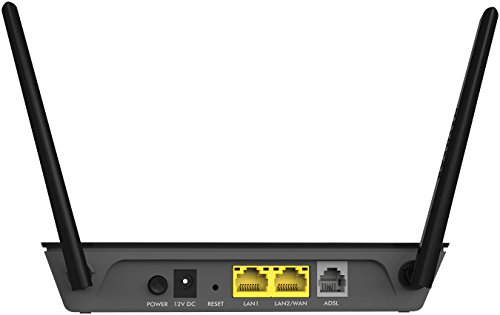 Netgear D1500 N300 WiFi DSL Built-in ADSL2+ Modem Router (Black)
