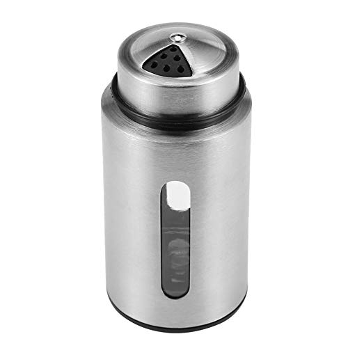 Slibrat Visible Edelstahl Gewürzglas Salz Pfefferstreuer Zahnstocher Halter (Shell-salz-und Pfefferstreuer)
