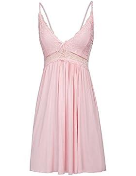Zexxxy Pijama de Mujer Camisón con Cuello en V