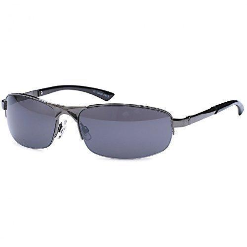 Herren Sonnenbrille Matrix Sportbrille Rad Brille Radbrille Sport Wayfarer B479, Rahmenfarbe:Eloxiert