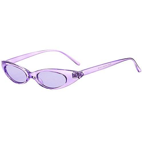 Auifor ☀Retro Weinlese-Schlag-Katzen-Unisexsonnenbrille-Rapper-Oval-Schatten-Schmutz-Gläser