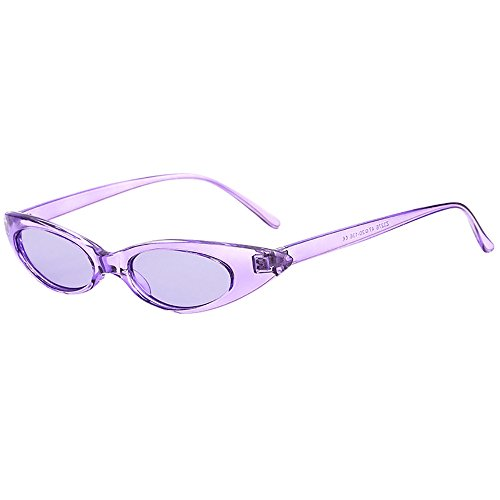 Honestyi Retro Vintage Clout Cat Unisex Sonnenbrille Rapper Oval Shades Grunge Brille Ovale Brillenbrille mit Cat Eye Sonnenbrille 01