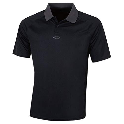 Oakley Herren SS Zurück Gestreifte Regular Fit Golf-Polo-Hemd - Schwarzout - L