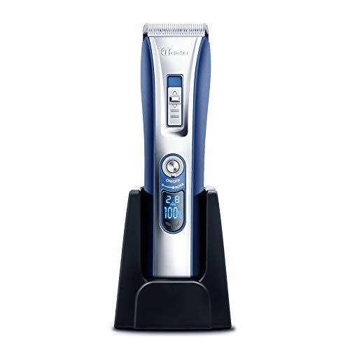 HATTEKER Herren Haarschneider Professionelle Haarschneidemaschine für Männer wiederaufladbarer Elektrischer Trimmer mit LED-Anzeige Schnurlosser Haarschneider Set für Erwachsene, Männer, Kinder und Babys