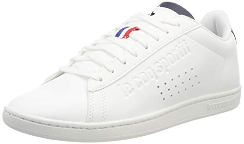 Le Coq Sportif Courtset, Sneaker Unisex-Adulto, Bianco Optical White/Dress Blue, 41 EU