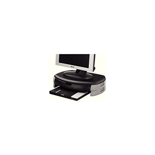Q-Connect Stand/Drawer for Monitor/Printer – Black