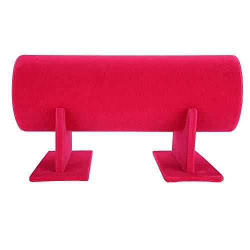 Soporte de exhibición desmontable, Soporte de la Pulsera Diadema Banda de Pelo Estante de Exhibición Estante Organizador Soporte de Exhibición de la Joyería(Rosa roja)