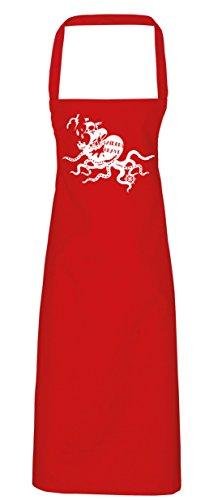hippowarehouse Sailors Grave Schürze Küche Kochen Malerei DIY Einheitsgröße Erwachsene, rot, (Skull Candy Red Kostüm)
