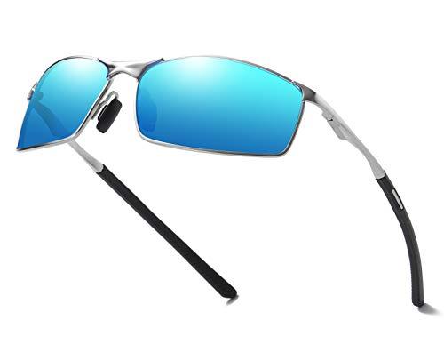 AORON Polarisierte Sonnenbrille Herren Outdoor Sportarten Schutz Brille UV-Schutz Fahrbrille (Blau)