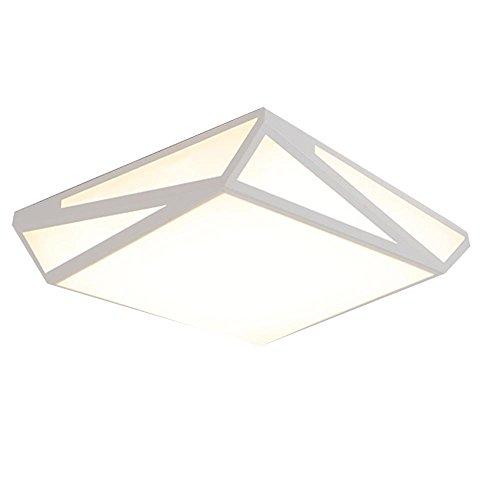 Mainstream-wohnzimmer (Kreative Geometrie weiße LED Deckenleuchte, moderne einfache Deckenleuchte, Schlafzimmer, Studie, Wohnzimmer)