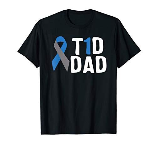 T1D Dad Diabetes Awareness Type 1 Insulin Pancreas T-Shirt