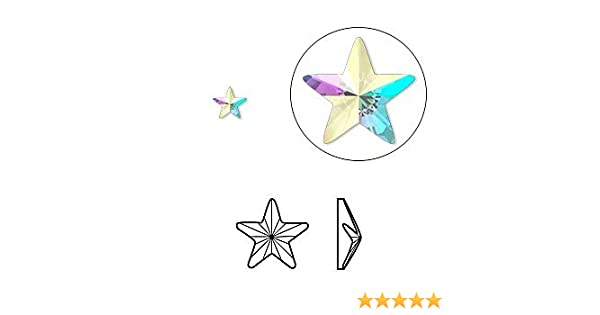 Genuine Swarovski Crystal Foiled Flat Back Gem Rhinestone - 2816 Star AB - 5  mm   Pack of 8 pcs  Amazon.co.uk  Beauty c1a05dee2817