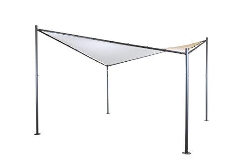 SORARA Schmetterling Schattentuch | Sandfarben | 400 x 400 cm / 4 x 4m | Viereckig Polyester 300 g/m² (UV 50+)| Outdoor Pavillon | Gartensonnensegel