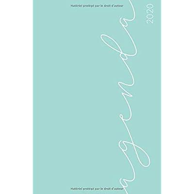 Agenda 2020: Agenda de Janvier à Décembre 2020, Semainier simple & graphique, série Pastel, Motif vert
