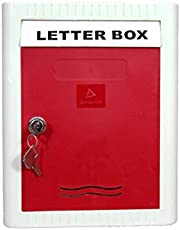 Aura Plast Plastic Wall Mounted Small Letter Box for Bungalow, Villa, Apartment and Commercial Use (Red)