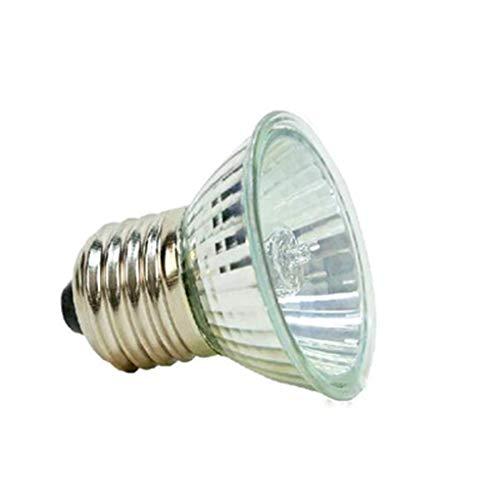 Demino Lámpara de calefacción halógena UVA UVB 3.0 Lámpara Reptil de Espectro Completo Lámpara...