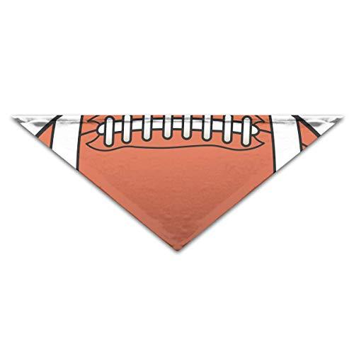 (Hectwya Cute Football Mehrfarbige Haustierbandanas für Ihren Hund oder Ihre Katze klein bis mittelgroß)
