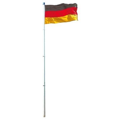 Fahnenmast Fahnenstange Flaggenmast Alu 6,20m DE Fahne