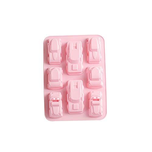 Stampi per ghiaccio Vassoio per Cubetti di Ghiaccio Stampo per cubetti di ghiaccioStampo in silicone per auto Modello di auto Stampo in silicone Cucina fai da te Strumenti di cottura, rosa