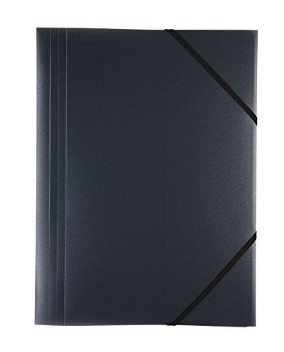 Idena 10373 - Gummizugmappe DIN A3, PP, transluzent schwarz