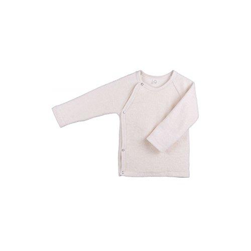 iobio Baby Frottee Wickelhemd Langarmshirt KbA Baumwolle cremefarben (44 Frühchen)