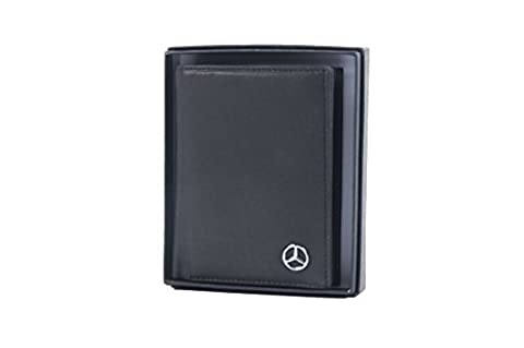 Mercedes-Benz Geldbörse Herren schwarz Rindsleder Genuine Soft Leather 9.5 x 12 cm (H-L) (Mercedes Vertical)