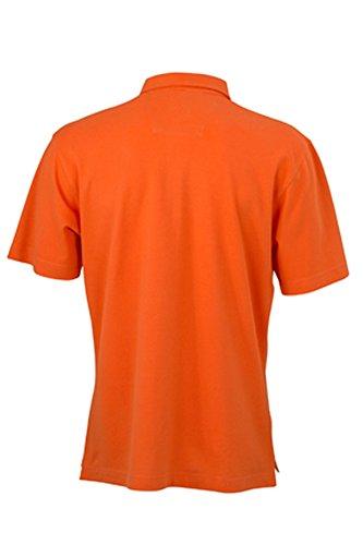 Herrenpolo mit modischem Karoeinsatz dark-orange/dark-orange/white