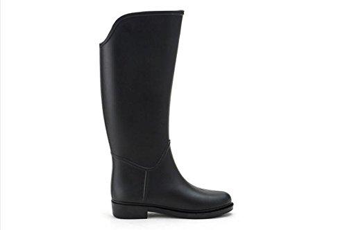 Mode Bottes de cheval Au printemps et en été Bottes de pluie Madame Black