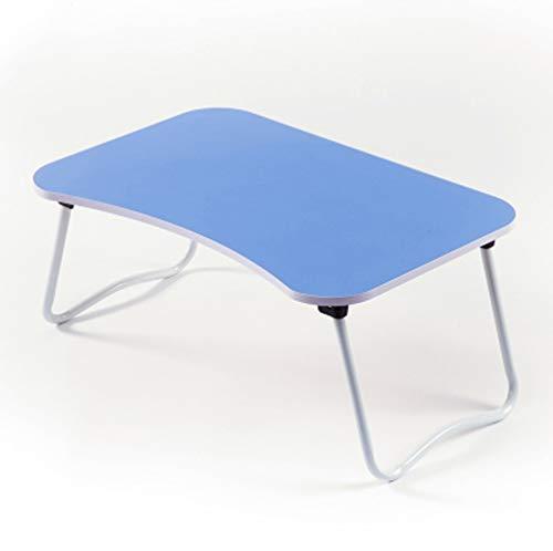 Lap Desk Stand (CZWYF Lap Desk Tray Tisch Laptop Stand Tragbarer Bett Schreibtisch Frühstückstablett für Bettcouch und Sofa mit MDF-Platte und faltbaren Metallbeinen / 23.6x15.7x11.02 Zoll (Color : Blue))