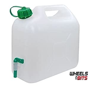 31CjjaciByL. SS300  - 10L 15L 20L Litre Plastic Garden Camping Caravan Water Carrier Fluid Jerry Can Container & Tap perfectly Safe for drinking water. Made in the EU