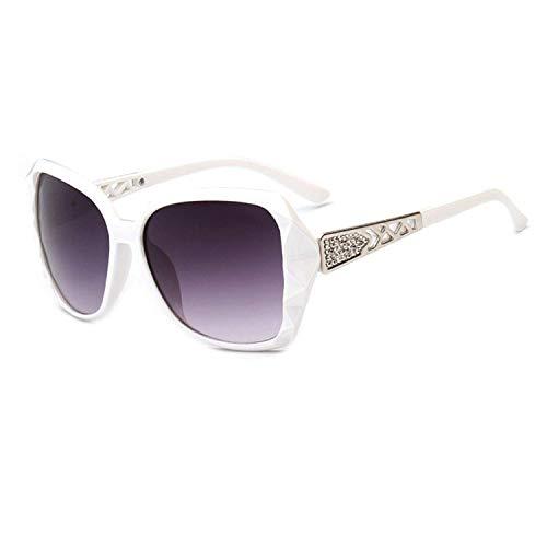 Jeewly Klassische Sportsonnenbrille, Large Frame Sunglasses Women Vintage Gradient Shopping Glasses Uv400 Travel Feminino