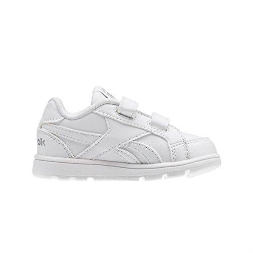 Reebok - V70002, Pattini Unisex – Bimbi 0-24 Weiß (White/Silver)
