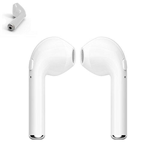 Gzmy Auricular inalámbrico de Apple auricular cabeza de teléfono para el iPhone 7 7 más 6s 6s más y Samsung Galaxy S7 S8 y teléfonos Android, auricular inalámbrico con altavoz(Izquierda)