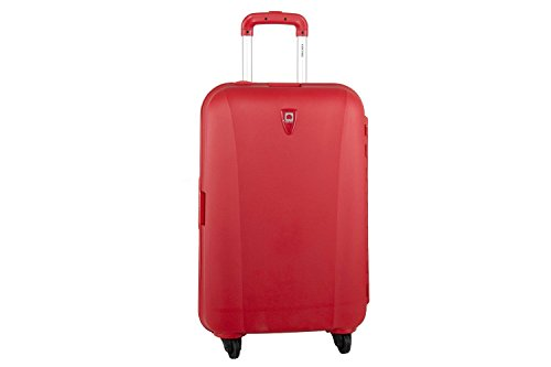 Valigia trolley grande rigido DELSEY rosso bagaglio a 4 ruote S309