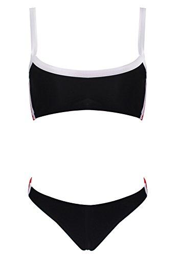 Le World Damen Bikini High Waist Hose, Frauen Push Up Bikini Oberteil Sexy Dreieck Bikini Set Zwei Stücke Badeanzug Sport Beachwear -