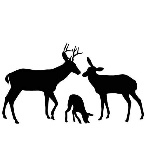 Zxdcd 16,8 Cm * 9,6 Cm Deer Harmony Familie Körper Des Autos Schmücken Auto Aufkleber Vinyl Decalwall Aufkleber 5 / Pcs (Deer Family Auto-aufkleber)