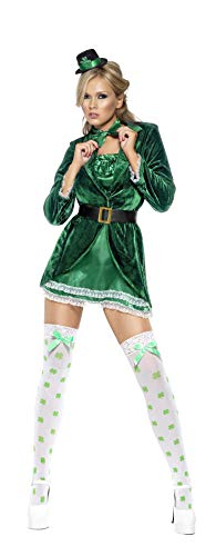 Smiffys, Fever, Damen St. Patrick's Tag Kostüm, Kleid, -