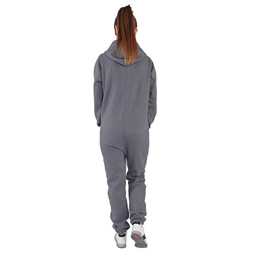 Finchgirl DI5 Damen Jumpsuit Trainingsanzug Dunkelgrau - 2
