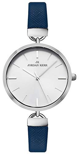 Jordan Kerr Kleine Damenuhr, dünnes Armband, leicht lesbares Zifferblatt, HQ, Box, NZJK24L/5